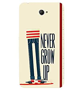 Fuson 3D Printed Quotes Designer back case cover for Sony Xperia E4 - D4447