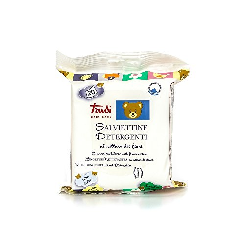 Trudi Baby 00435Panni per Pulizia con fiore nettare (20pezzi), Bianco
