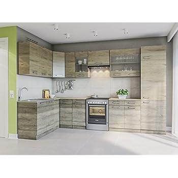 Eldorado möbel winkelküche martha 330x170 trüffel sonoma l form küchenzeile eck küchenblock