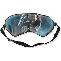 Fantasy Rothaar-Krieger Schlafmaske aus Seide mit verstellbaren Trägern für Schlafen Reisen Nickerchen preisvergleich bei billige-tabletten.eu