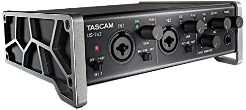 Tascam US-2x2 Interfaccia USB/MIDI, Nero/Antracite
