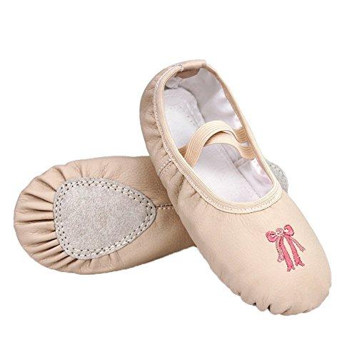 Chaussures Yoga Ballet Gymnastique Plate Broderie Danse Ballet Chaussures Split Filles Vokamara 24 de R0S55H
