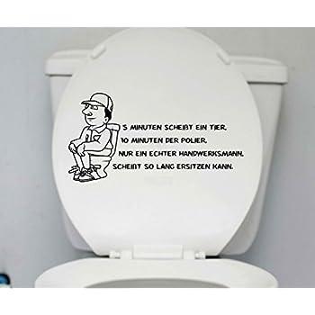 Cooler Spruch für Klo WC Deckel Aufkleber Trinkwasser