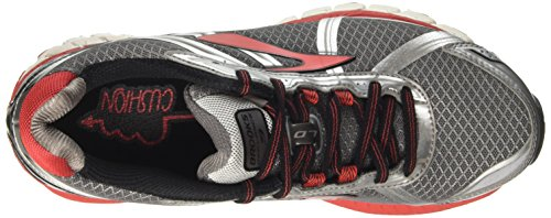 Brooks Defyance 9, Chaussures de Course Homme Multicolore (Charcoal/silver/highriskred)