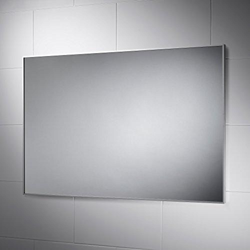 Delta Non-Illuminated Bathroom Mirror 900mm X 600mm with Aluminium Frame