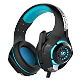Asoon Gaming Headset - PS4 Xbox One PC Nintendo Switch,Gaming Kopfhörer mit Mikrofon,LED Light Bass Surround