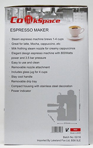 CookSpace (TM) Stainless Steel Coffee Espresso Cappuccino Latte Machine with Frother