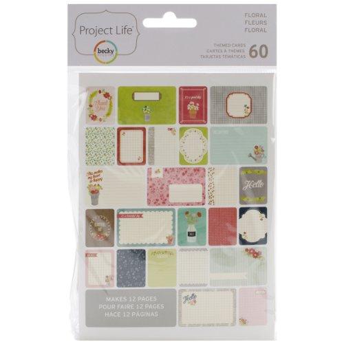 American Crafts 380237Project Life Themed Cards 60/pkg-floral - Pkg-floral Design