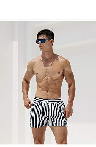 sexy Herren Summer Beach Shorts Schnelltrocknendes Surfbrett Shorts Swim Trunk Stripe @ L ()