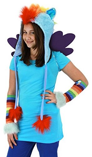 My Little Pony Rainbow Dash Hoodie Hat Costume Headpiece