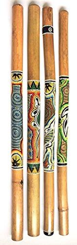 Didgeridoo 120 cm bemalt aus Bambus Holz Musik Instrument Dotpaint Handbemalt