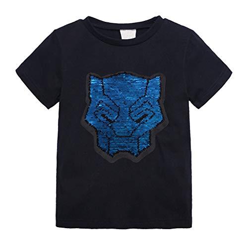 DIASTR Baby Junge Mädchen Kleidung Stellte Tops Karikatur Änderungs Farben Kurzschluss Hülsen T-Shirt T-stück übersteigt Kleidung (12m -8y) - Körper-handschuh-kinder T-shirt