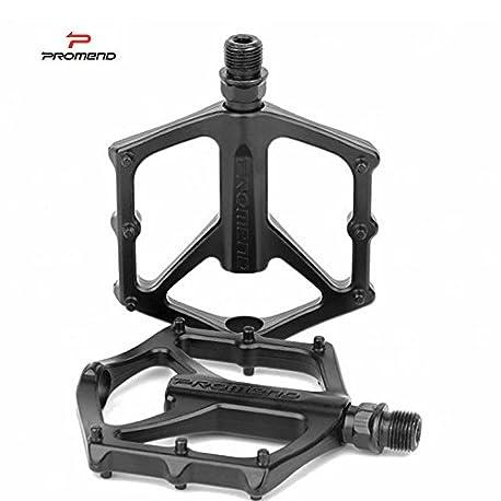 flycoo Promend 1 par monta a bicicleta pedales de aluminio Eje acero al molibdeno plataforma scell rodamiento eje antidesli