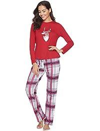 Abollria Pijamas Navidad para Familias Adultos Pijama Familiares Manga Larga Hombre Mujer Niños…