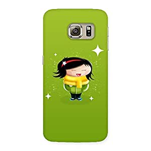 Cute Laughing Cute Girl Print Back Case Cover for Samsung Galaxy S6 Edge