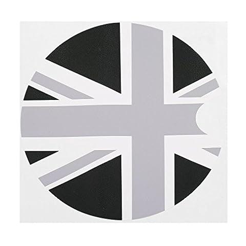Neue 1 stück 180 * 180mm PVC Mini Cooper F55 F56 Auto Benzin Diesel Tankdeckel Gas Abdeckung Vinyl Aufkleber Aufkleber Britischen UK (Neue Mini-flagge)