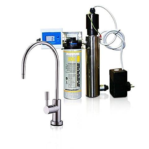 Luftreiniger Wasser Micro Filtration Kit Everpure mit UV und Durchflussmesser + Filter 2DC