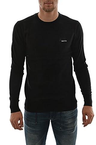 Superdry Orange Label Crew Knit in Black (Large)
