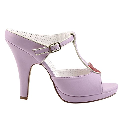 Pin Up Couture SIREN-09 Lavender Faux Leather
