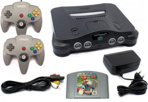 Nintendo 64 - Konsole + Mario Kart + 2 Controller Nintendo 64 Spiel-konsole