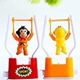 Newin Star 2 PCS Creative Wind Up Toys Funny Gymnastics Monkey Flip Toy for Kids Color Random