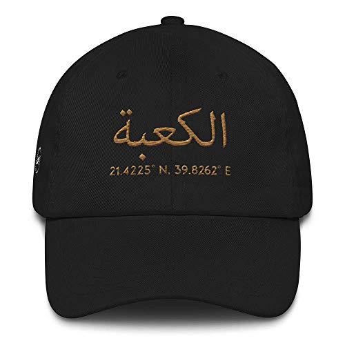 AHAD THE ONE AL-Kaaba arabische Kaligraphie und Koordinaten von Mekka islamisches Snapback Cap Baseball Cap muslimische Kleidung mit gesticktem Motiv für Männer und Frauen Yupoong Flex Fit Twill