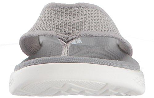 Skechers Go 600, Sandales Bout Ouvert Femme Gris (Grey)