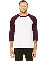 Canvas C3200 Unisex 3/4-Sleeve Blended Baseball Tee