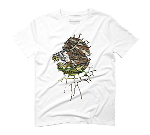 ABSTRACT BALD EAGLE Men's Graphic T-Shirt - Design By Humans White