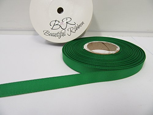 Beautiful Ribbon 2 mètres x Ruban de 10mm Gros-Grain émeraude Vert Vif Double Face Grosgrain nervuré 10 mm