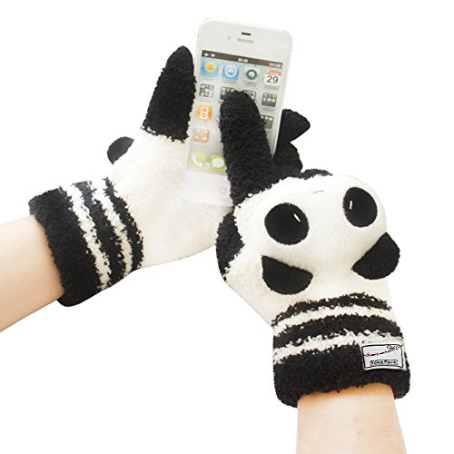 [Official Shop]BXT Cute Cartoon Coral Fleece Touch Screen Magic Gloves for iPad,iPhone,iPod,HTC,Samsung Smart Phones,Samsung Tablets