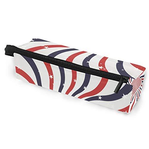 Bleistiftbeutel Etui Tasche Kunst Amerikanische Flagge Make-up Kosmetische Sonnenbrille für Mädchen Jungen Reise Schule