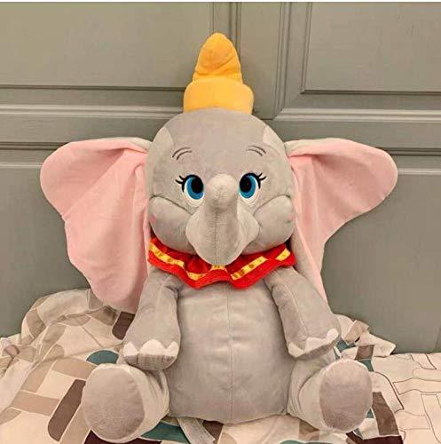 WFORGETT Juguete de Peluche, Peluche de Elefante bebé Dumbo Juguetes Peluche Suave Mascota muñeca para niños Cojín casero Juguetes de algodón 2019 Dibujos Animados Disney Película Dumbo