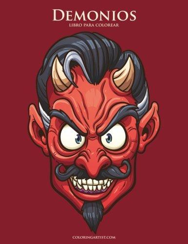 Demonios libro para colorear - Demonio Del Halloween
