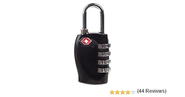cb4c606f46 SODIAL(TM) Lucchetto TSA 4 combinazione per valigia baggagli nero:  Amazon.it: Valigeria