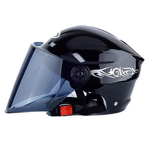 LuuBoes Fahrradhelm, verstellbar, mit Abnehmbarer magnetischer Brille, Visier für Damen und Herren, Schwarz