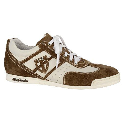 Nero Giardini Sneaker Uomo Pelle/Camoscio P301831U Primavera/Estate (40, Bianco/Canguro)
