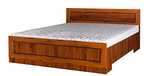 Doppelbett Dahra 18 inkl. Lattenrost, Farbe: Eiche Braun - 160 x 200 cm (B x L)