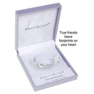 Joe Davies Equilibrium Bracelet en plaqué argent avec inscription
