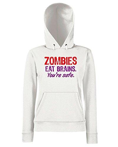 T-Shirtshock - Sweats a capuche Femme TZOM0022 zombies Blanc