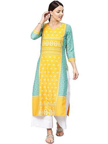 Vaamsi Women's A-Line Kurta (VPK1583_XXL_Multicoloured_Xx-Large)