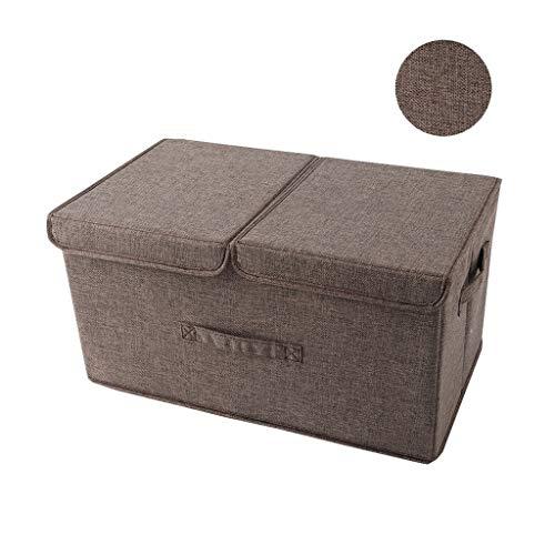 Doppelte Deckel, Baumwollkleidung Faltbar Tragbar Waschbar, Kleider Kinder Aussortieren Kisten (Color : C, Size : 19.7 * 11.8 * 9.8 inch) ()