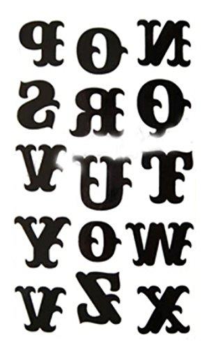 Set 1 Cool Gothic Letters DIY-Name-Körper-Tätowierung Sticker Tattoos