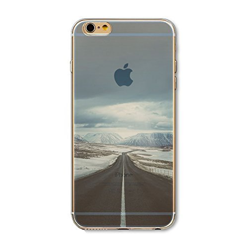 Coque iPhone 6 6s Housse étui-Case Transparent Liquid Crystal en TPU Silicone Clair,Protection Ultra Mince Premium,Coque Prime pour iPhone 6 6s-Paysage-style 1 8