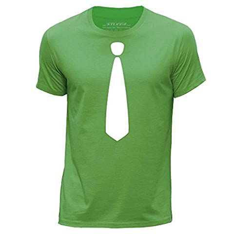 STUFF4 Hommes/X Petite (XS)/Vert/Col Rond T-Shirt/Mode Branché / Skinny Tie