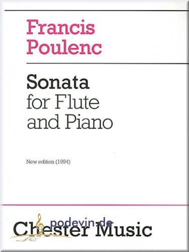 Francis Poulenc - Sonata for Flute and Piano - Flöte Noten [Musiknoten]