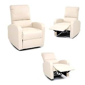 Poltrona relax reclinabile con poggiapiedi recliner for Poltrona fai da te