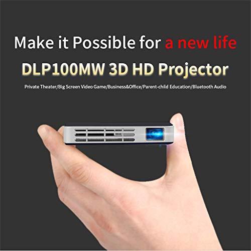 Qmber Mini Projektor Video Beamer Projektoren Mikroprojektor Smart DLP Mini Projektor Android WiFi Bluetooth 1080P Heimkino HDMI Mini Stativ (146×79×16mm, Schwarz) Digital Projector Ceiling Mount