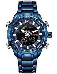 Reloj Naviforce de Acero Inoxidable Azul, Mecanismo de Cuarzo, Resistente al Agua, 3