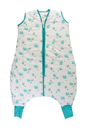 Schlummersack Schlafsack mit Füßen leicht gefüttert für den Sommer in 1.0 Tog - Elefanten Unisex - 24-36 Monate/100 cm